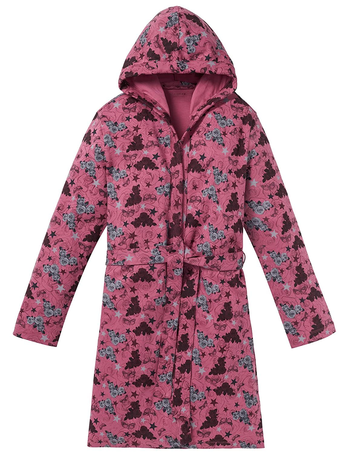 Schiesser Girls Rebel M/ädchen Bademantel Dressing Gown