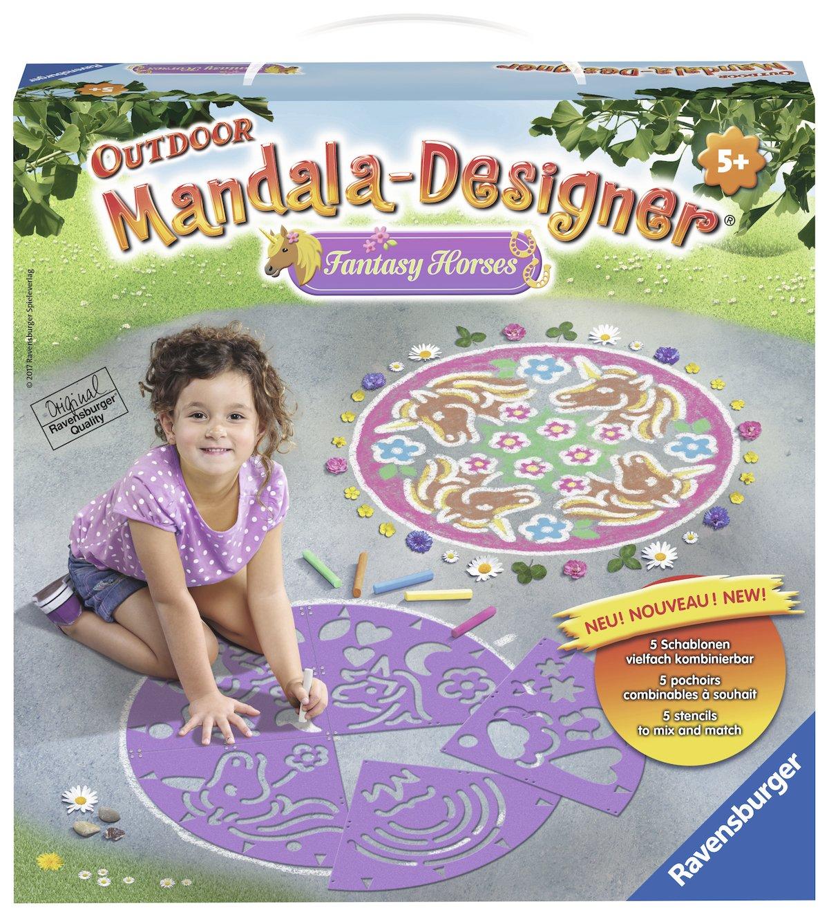 Ravensburger 29815–Fantasy Horses Mandala Designer Outdoor