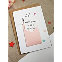 Pregnancy announcement card for daughter A BIG SISTER CARD mum husband dad Oven in the Bun Baby Shower new mum to be baby shower new baby card scratch off card