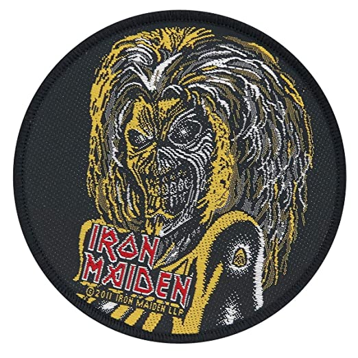 Amazoncom Iron Maiden Classic Eddie The Head Patch Mascot Logo