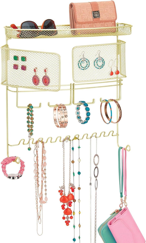 Yagoal Porta Orecchini espositore collane Organizzatore Appendiabiti per Gioielli da Parete Gioielli Porta Anelli Organizzatore di Orecchini White