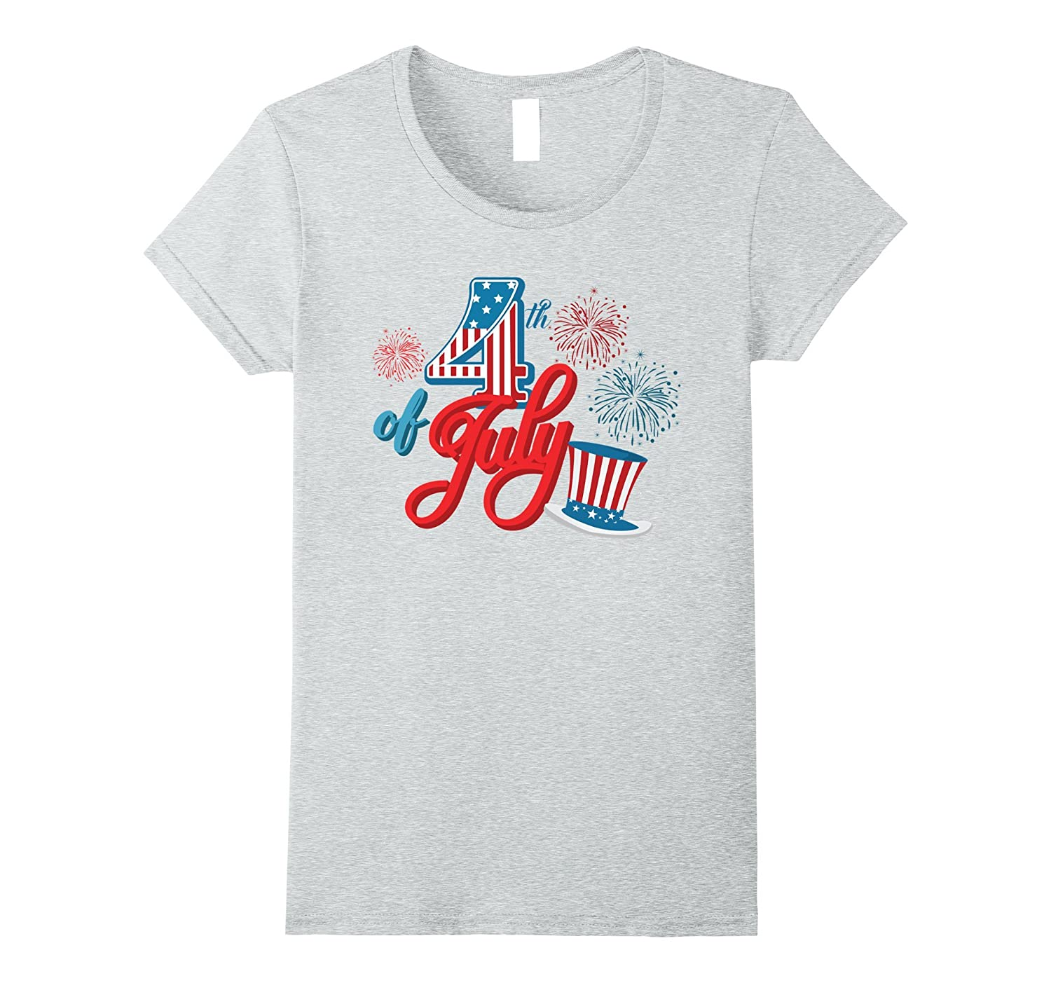 Happy 4th of July Celebration-Red White and Blue-T-Shirt