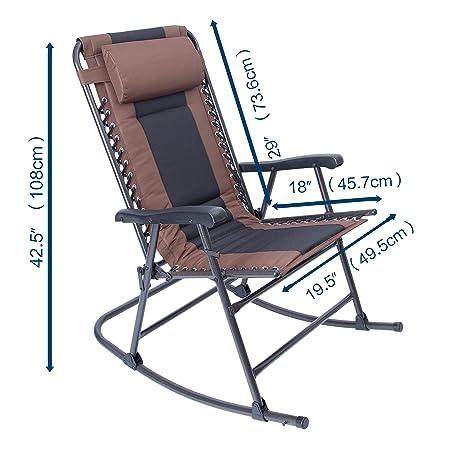 LUCKYBERRY - Sillón reclinable Plegable para Patio, césped o ...