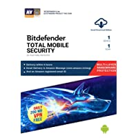 BitDefender Total Security for Mobile Latest Version (Android / iOS) - 1 Device, 1 Year (Email Delivery in 2 hours - No CD)