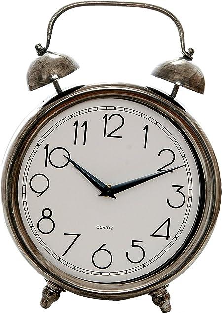 Sukima Decor Vintage Reloj Sobremesa, Metal, Plateado, 23x8x32 cm ...