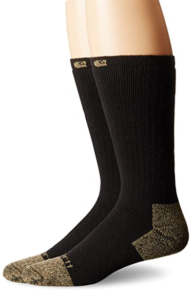 1f61f9834681 Carhartt Men s 2 Pack Full Cushion Steel-Toe Cotton Work Boot Socks at  Amazon Men s Clothing store