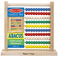 Melissa & Doug 493 Abacus - Classic Wooden Educational Counting Toy with 100 Beads