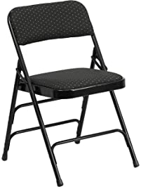 flash furniture hercules series curved triple braced u0026 double hinged black patterned fabric metal folding chair