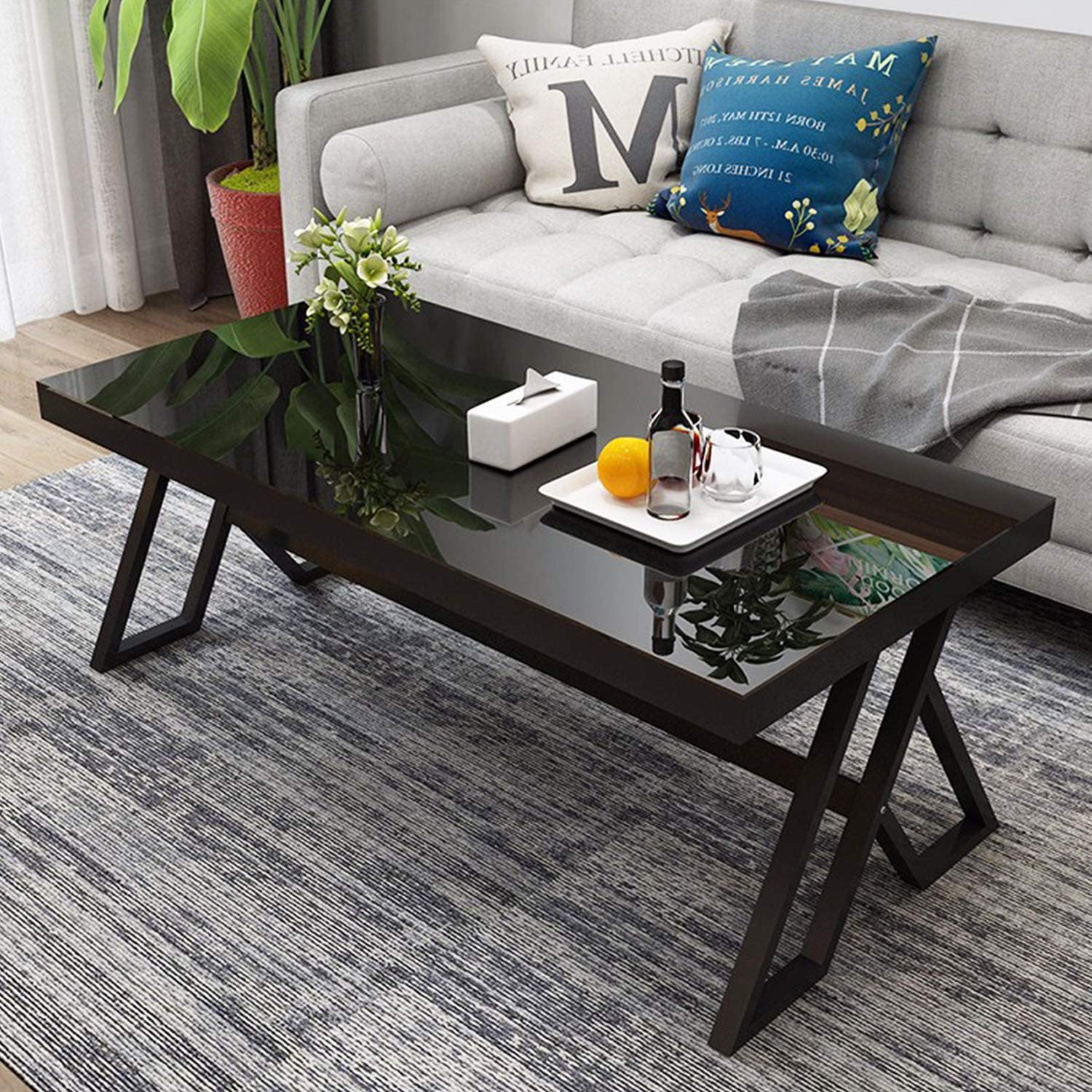 - Amazon.com: Jerry & Maggie - Tempered Glass Tea Table Coffee Table
