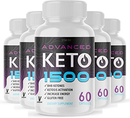 (5 Pack) Official Advanced Keto 1500, BHB Ketones for Men and Women, 5 Month Supply