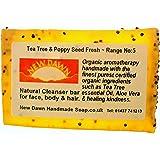 Handmade Natural Tea Tree Soap Bar - Range No.5 - Acne / Blackhead / keratosis Pilaris / Athlete's Foot / Hidradenitis Suppurativa Relief - 35g - Sample / Travel Size