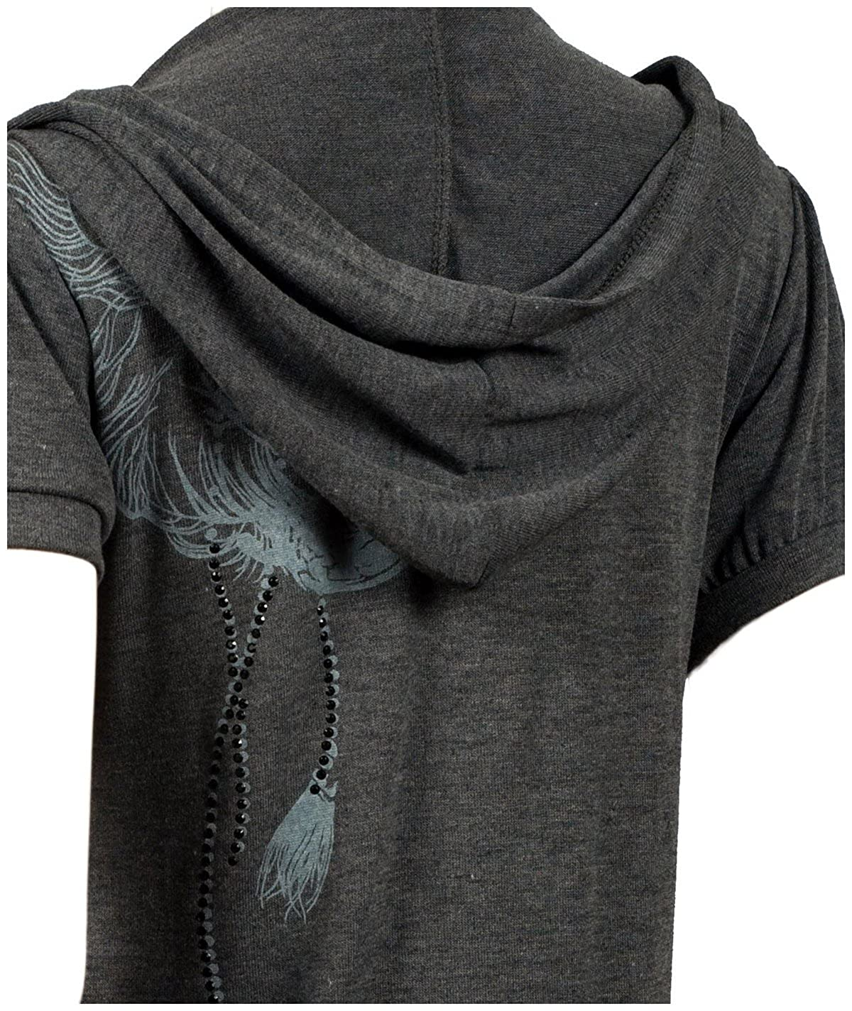 f50e7ff4b51 eVogues Women s Low Cut v-Neck Hoodie top Made in USA at Amazon Women s  Clothing store  Fashion Hoodies