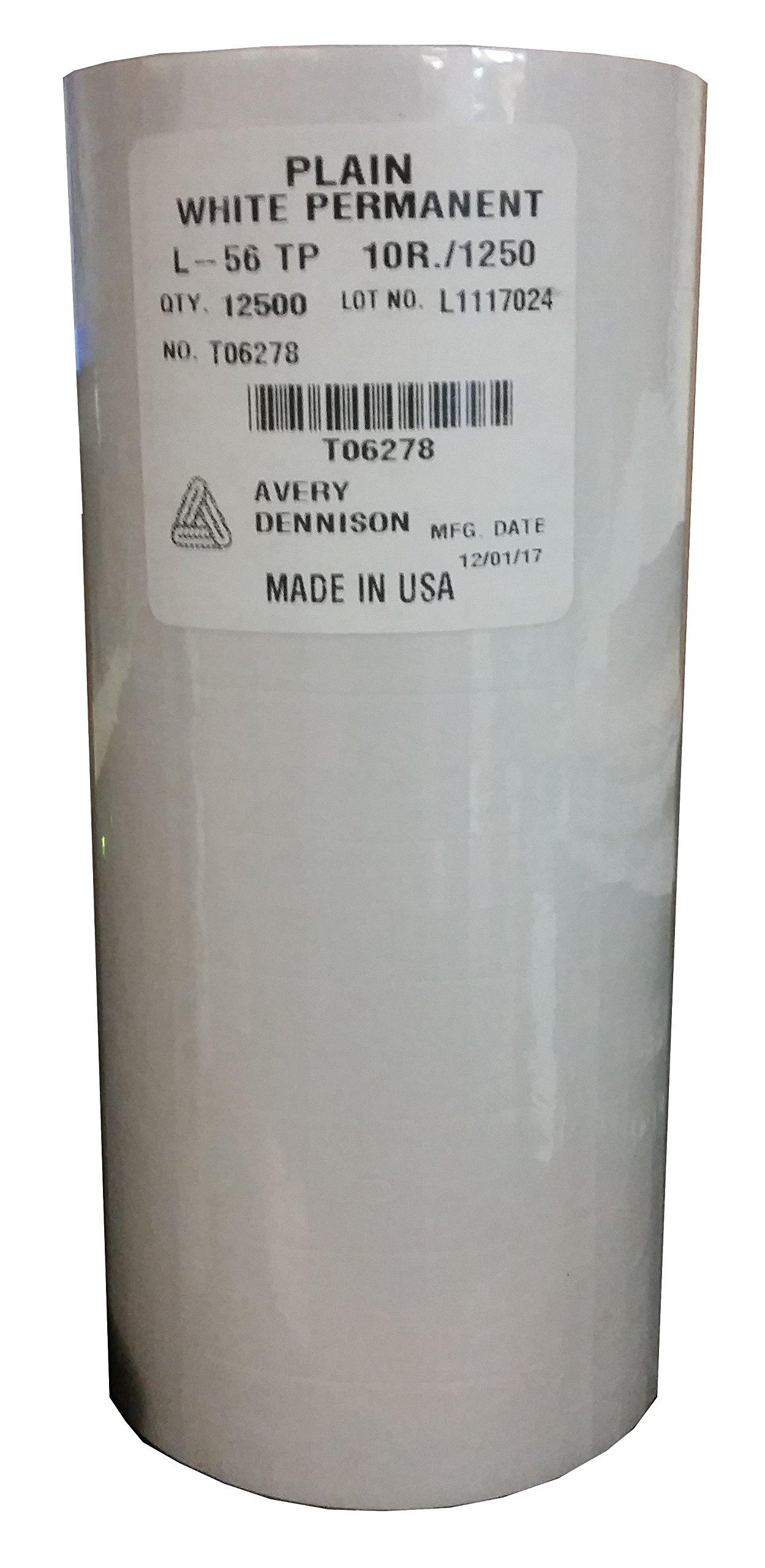 Sato PB-2 (PB-216) White Labels for PB-216 (12500 per sleeve) by Sato White Labels