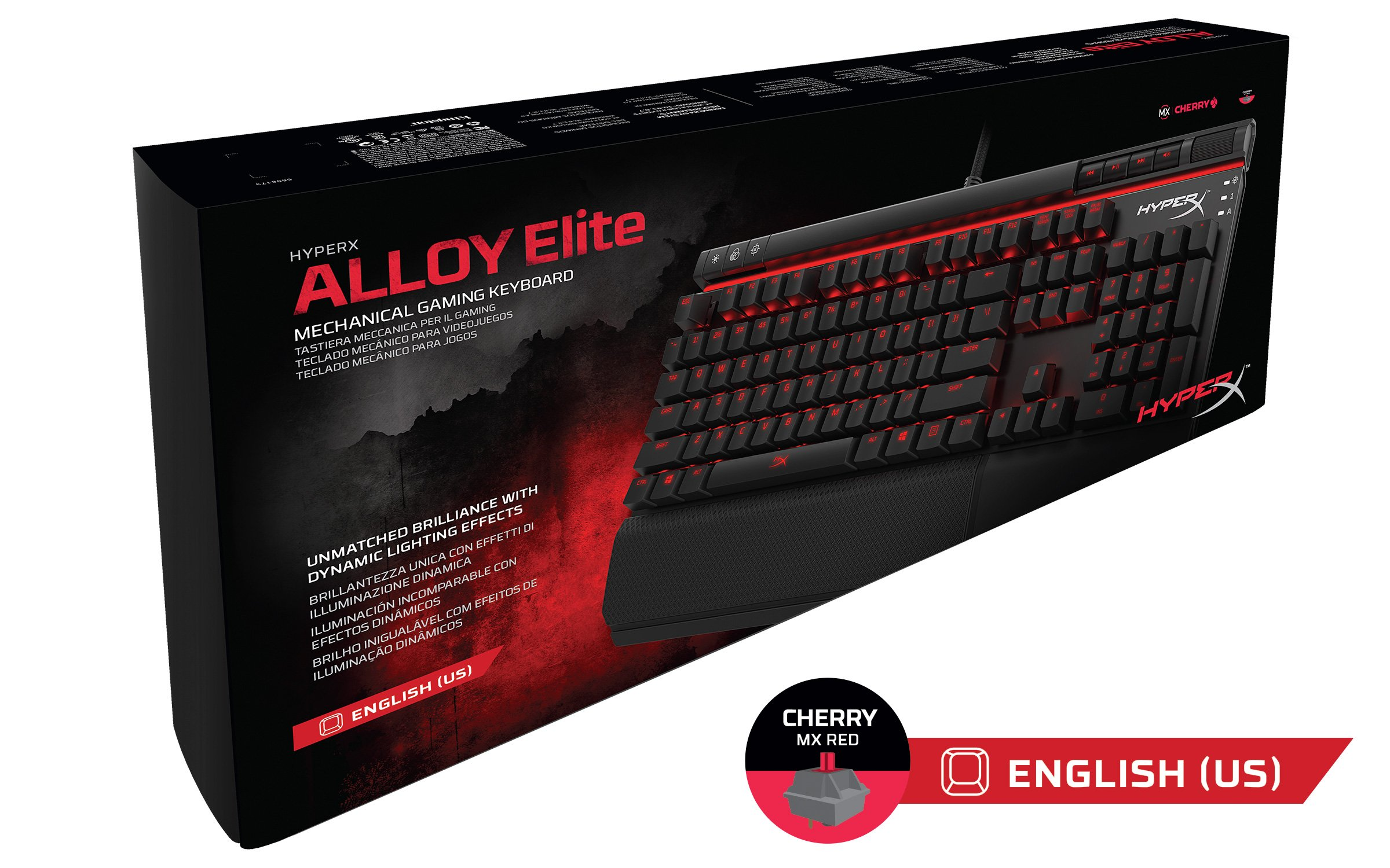 HyperX Alloy Elite Mechanical Gaming Keyboard, Cherry MX Red, Red LED (HX-KB2RD1-US/R1) by HyperX (Image #5)