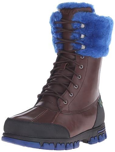 Lauren Ralph Lauren Women's Quinta Winter Boot, Brown/Royal, ...