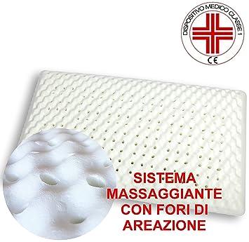 VENIXSOFT Almohada para cama viscoelástica en espuma de memoria (memory foam) revestimiento algodón, ortocervicales, transpirable-PRODUCTO SANITARIO Clase 1 ...