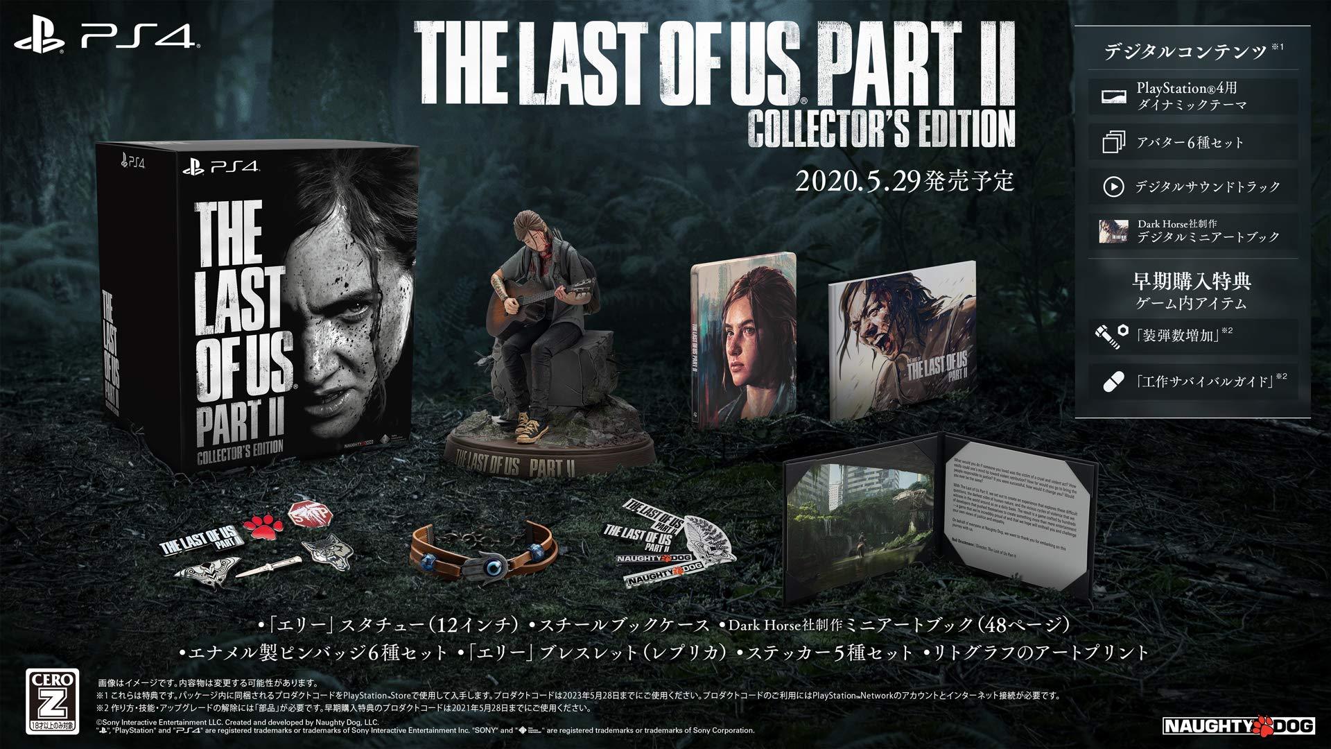 【PS4】『The Last of Us Part II』の早期購入特典・店舗特典・コレクターズエディション【発売日未定】