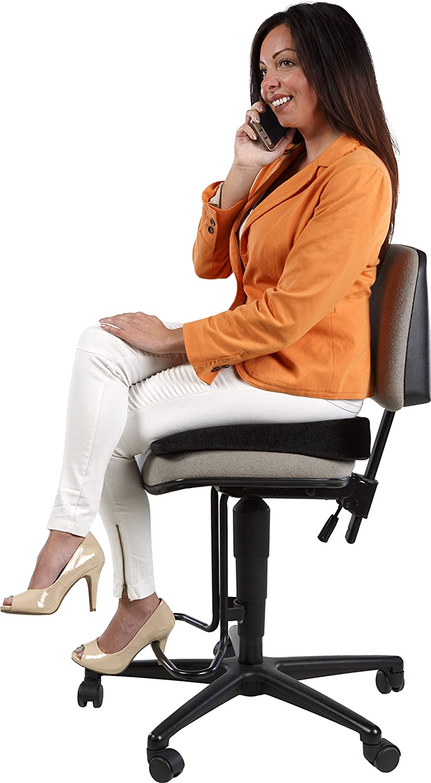 Coccyx Relaxzen 60-2869B Black Support Wedge Seat Cushion