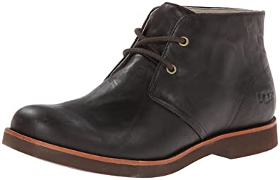 UGG Men's Westly Chocolate Leather Boot 14 D - Medium
