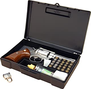 "product image for MTM 804-40 Pistol Handgun Long Term Storage Case 4"" Revolver, Black"