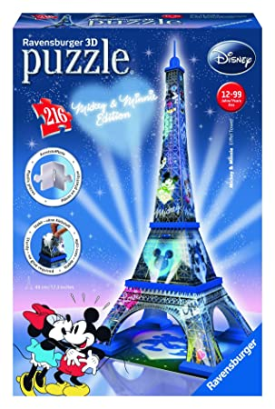 Disney - Puzzle 3D Building: Tour Eiffel Mickey & Minnie Mouse (Ravensburger 12570 8