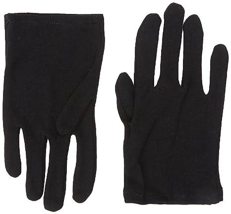 Rubie s Guanti in cotone neri per bambini 48f569ef41c7