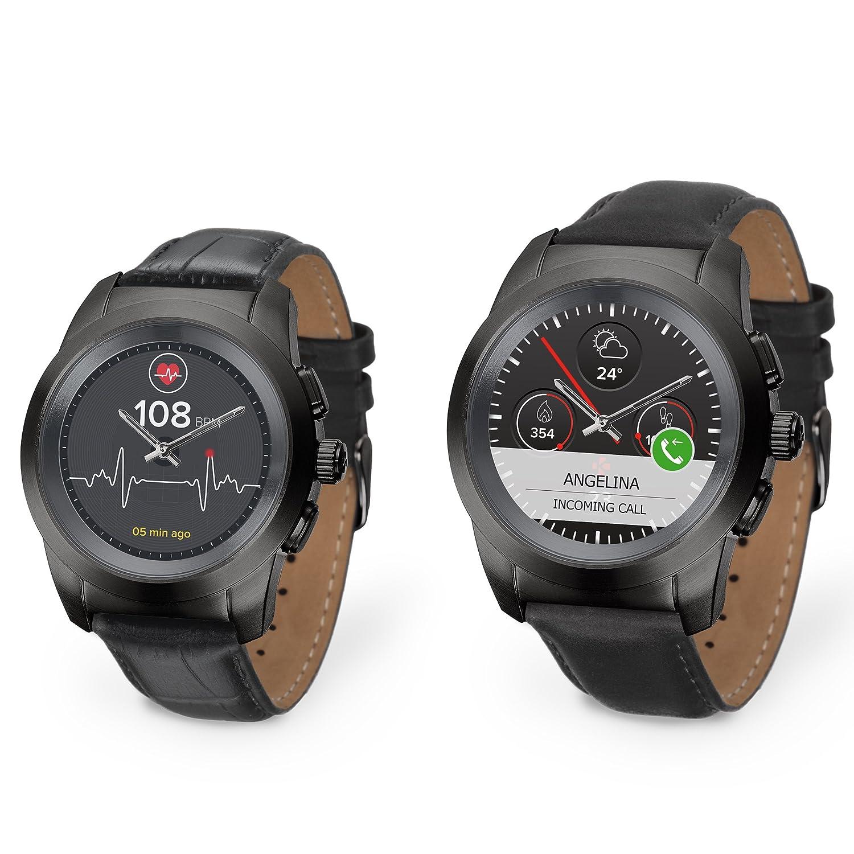 MyKronoz ZeTime Premium Reloj Inteligente híbrido 39mm con Agujas mecánicas Sobre una Pantalla a Color táctil: Amazon.es: Electrónica