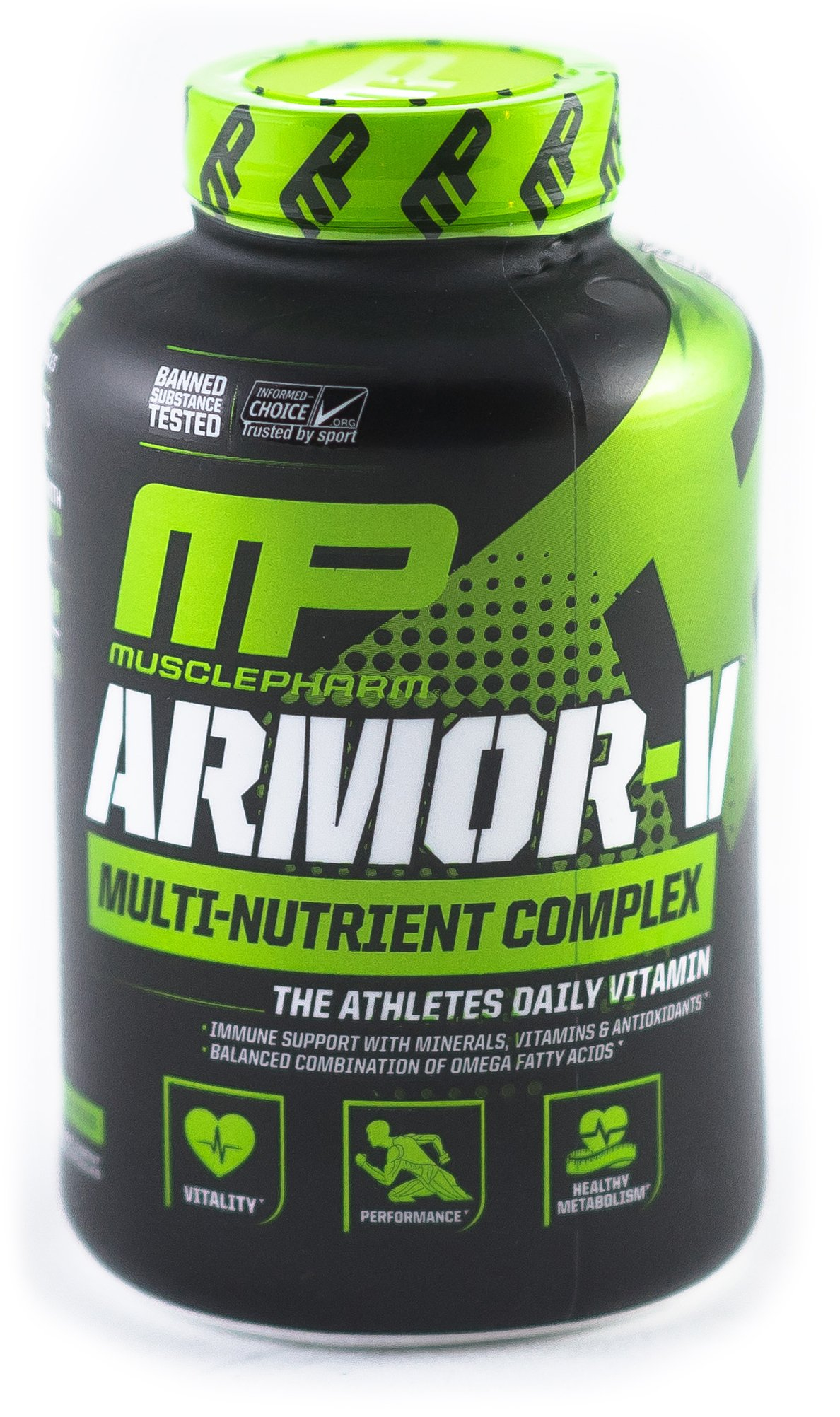 Musclepharm | Armor-V Sport Daily Multivitamin and Mineral Capsule | Total Immune System Support with B Vitamins for Energy and Metabolism Support | 180 Capsules, 30 Serving