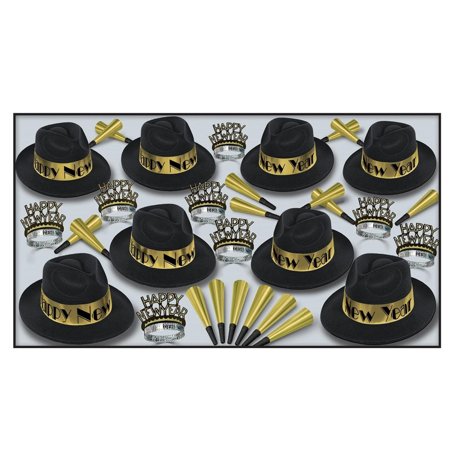 The Swing Gold Party Kit For 50 People For New Year's Eve by Party Central