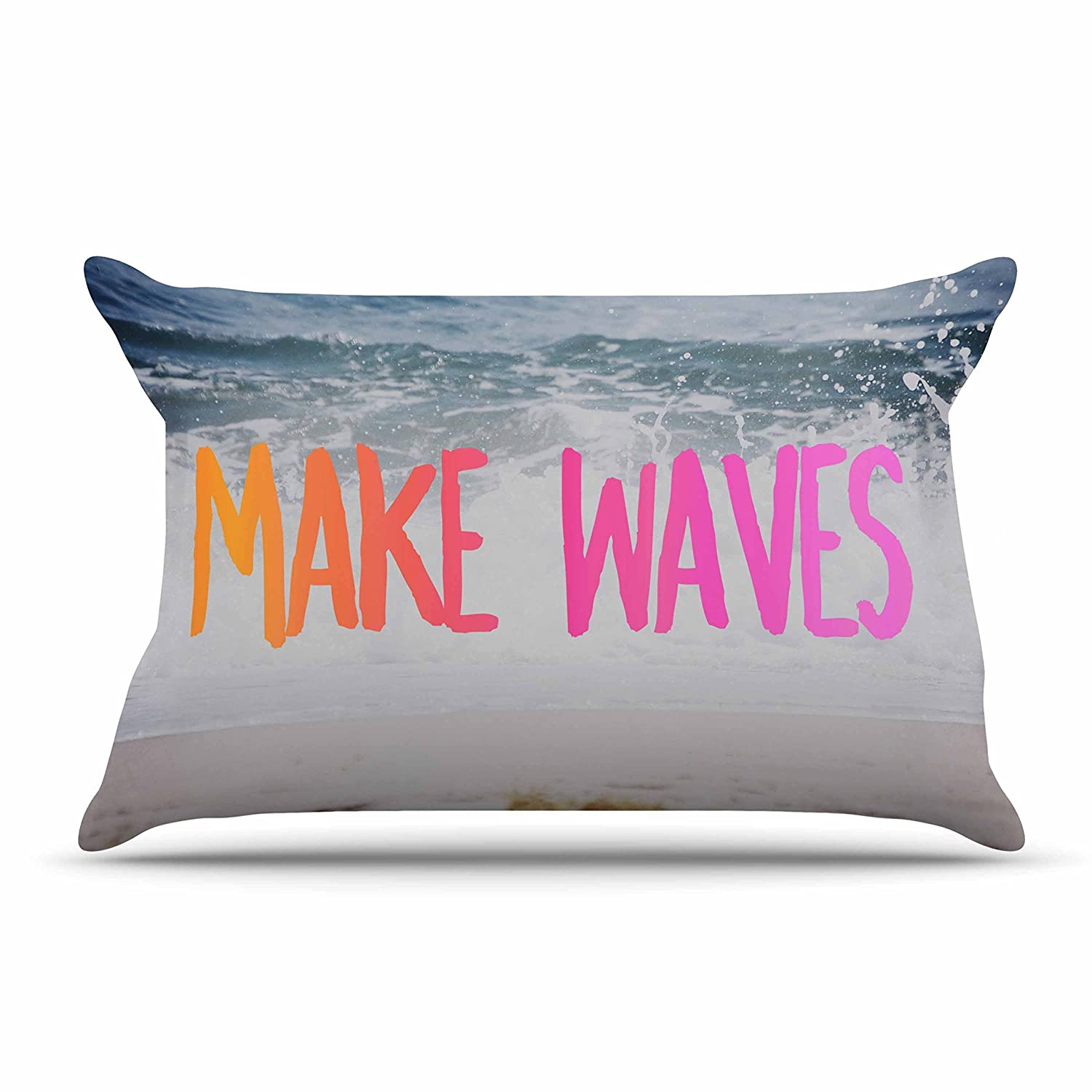 Kess InHouse Chelsea Victoria Make Waves Featherweight Sham 30 X 20