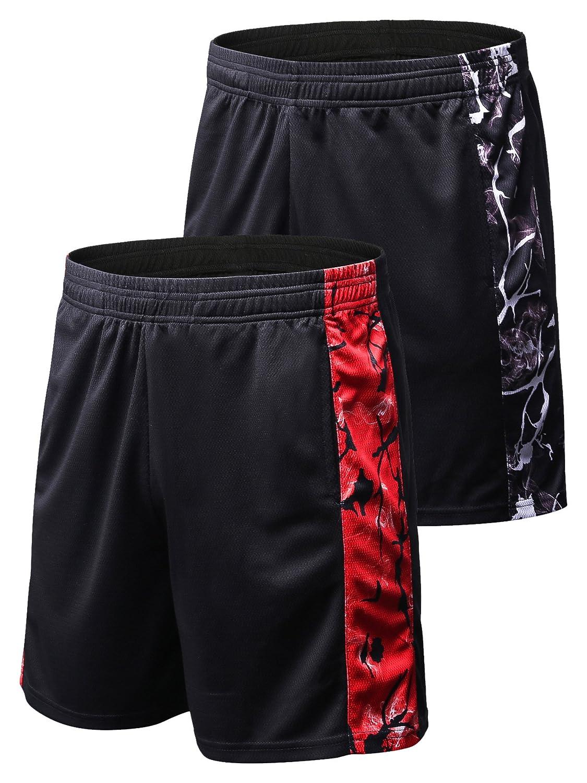 Semele SHORTS メンズ Medium 2 Pack:7015 Black(grey) & Black(red) B07FM167WV