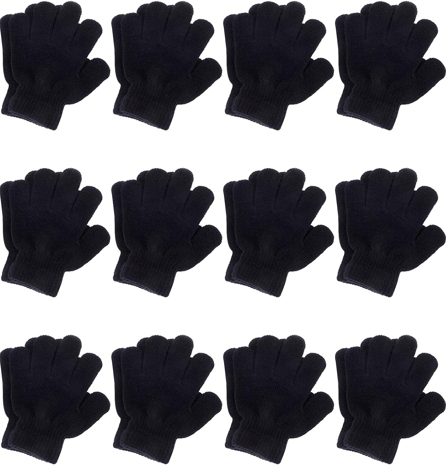 KIDS WINTER GLOVES 12 PAIRS