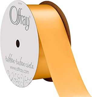 "product image for Offray Berwick 1.5"" Single Face Satin Ribbon, Gold Yellow, 10 Yds"