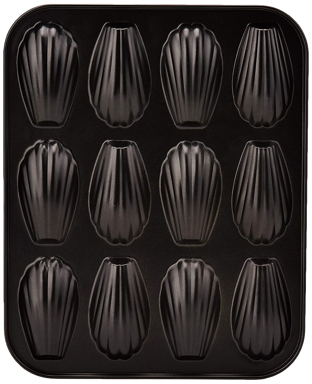 Nero Ibili 820502-Stampo Per 12 Mini Muffin Moka 25,9 x 20,9 x 1,4 cm