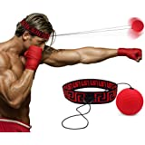 Boxing Reflex Fight Ball by Abra Athletics: 2019 Model, Great for Improving Reactions, Punching, Hand Speed and Agility, Headband Fits All, Perfect for Boxing, Training and Fitness, Boxing Equipment