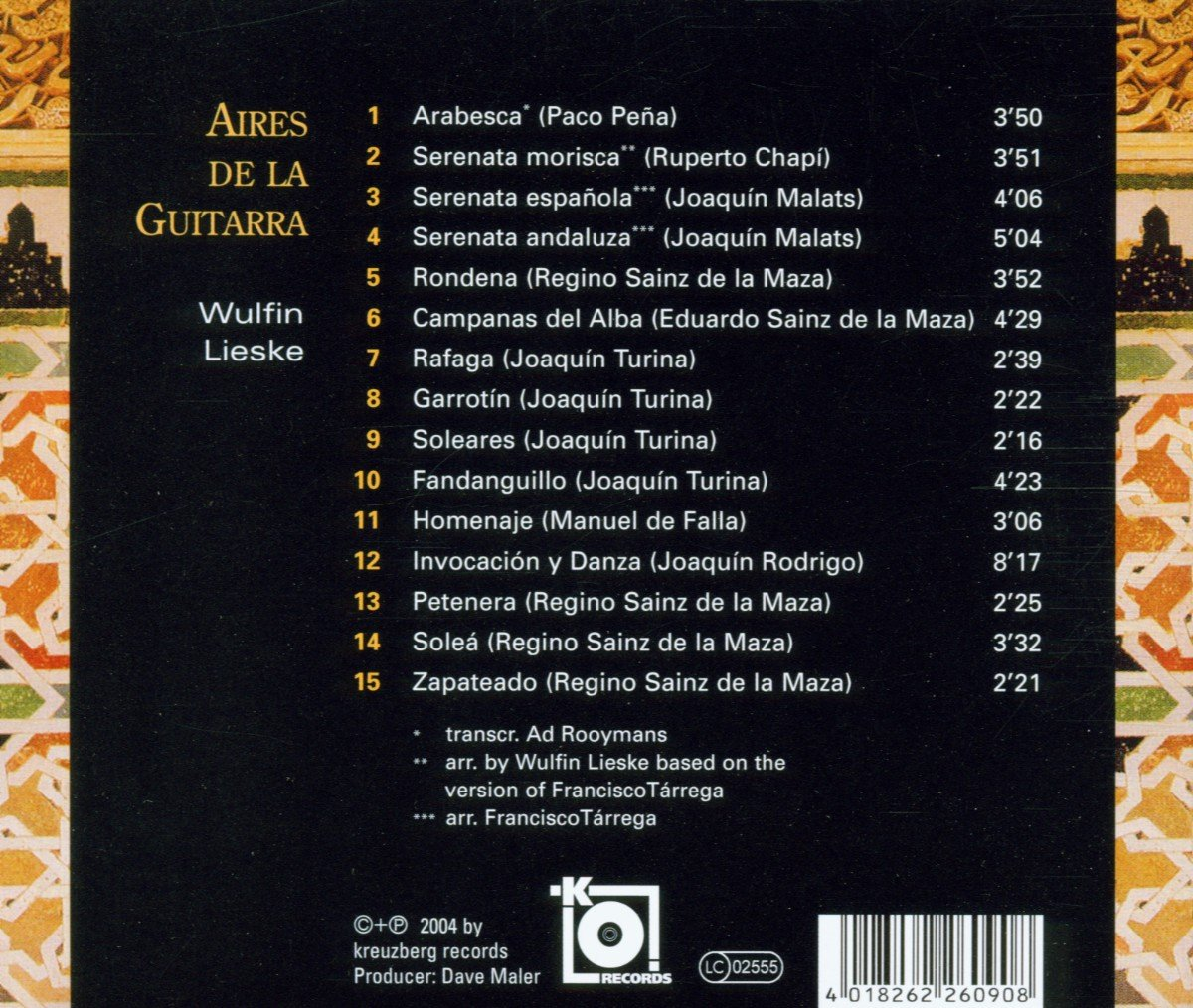 Aires de la Guitarra: Wulfin Lieske: Amazon.es: Música