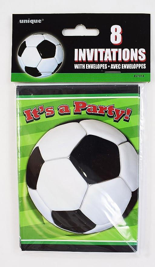 Fútbol invitaciones de fiesta 8 unidades Vajilla Suministros ...