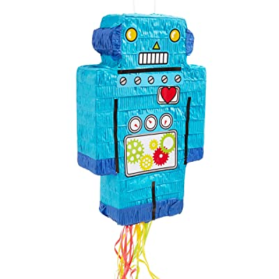 Robot Pinata for Kids Birthday Party (16.6 x 10.8 in.): Toys & Games