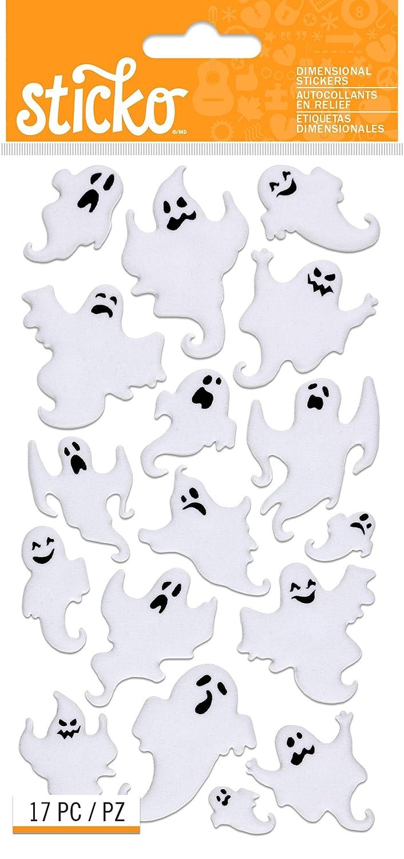 Sticko Velvet Ghosts Halloween Stickers E5245031