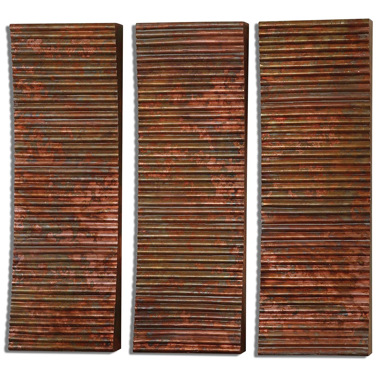 Amazon.com: Uttermost 07064 Adara Copper Wall Art (Set of 3): Home ...