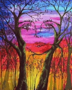 """KOSE Paint by Numbers for Adults Beginner & Kids,DIY Oil Painting Kit on Canvas with Paintbrushes and Acrylic Pigment, Arts Craft for Home Wall Decoror-16""""W X 20""""L Face Tree"""