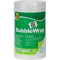 Duck Brand 393251 Plástico de burbujas original para empaque protector, 30.48 cm de ancho x 9.14 m de largo (12 in x 30 ft), un solo rollo