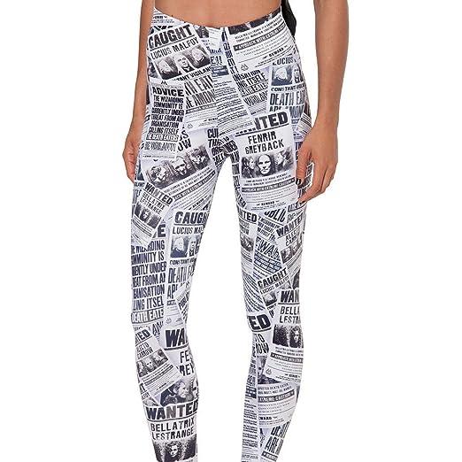 stronggirl 2018 Women 3D Print Newspapers Pattern Leggings ...
