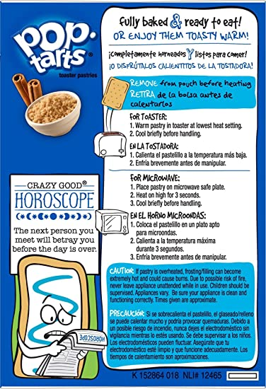 Pop-Tarts Breakfast Toaster Pastries, Unfrosted Brown Sugar Cinnamon Flavored, 14 oz (8 Count)
