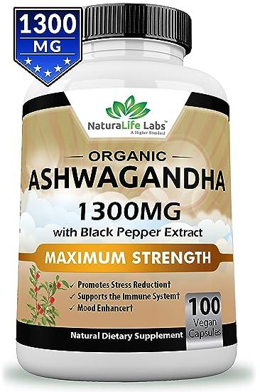 Amazon Organic Ashwagandha 1300mg