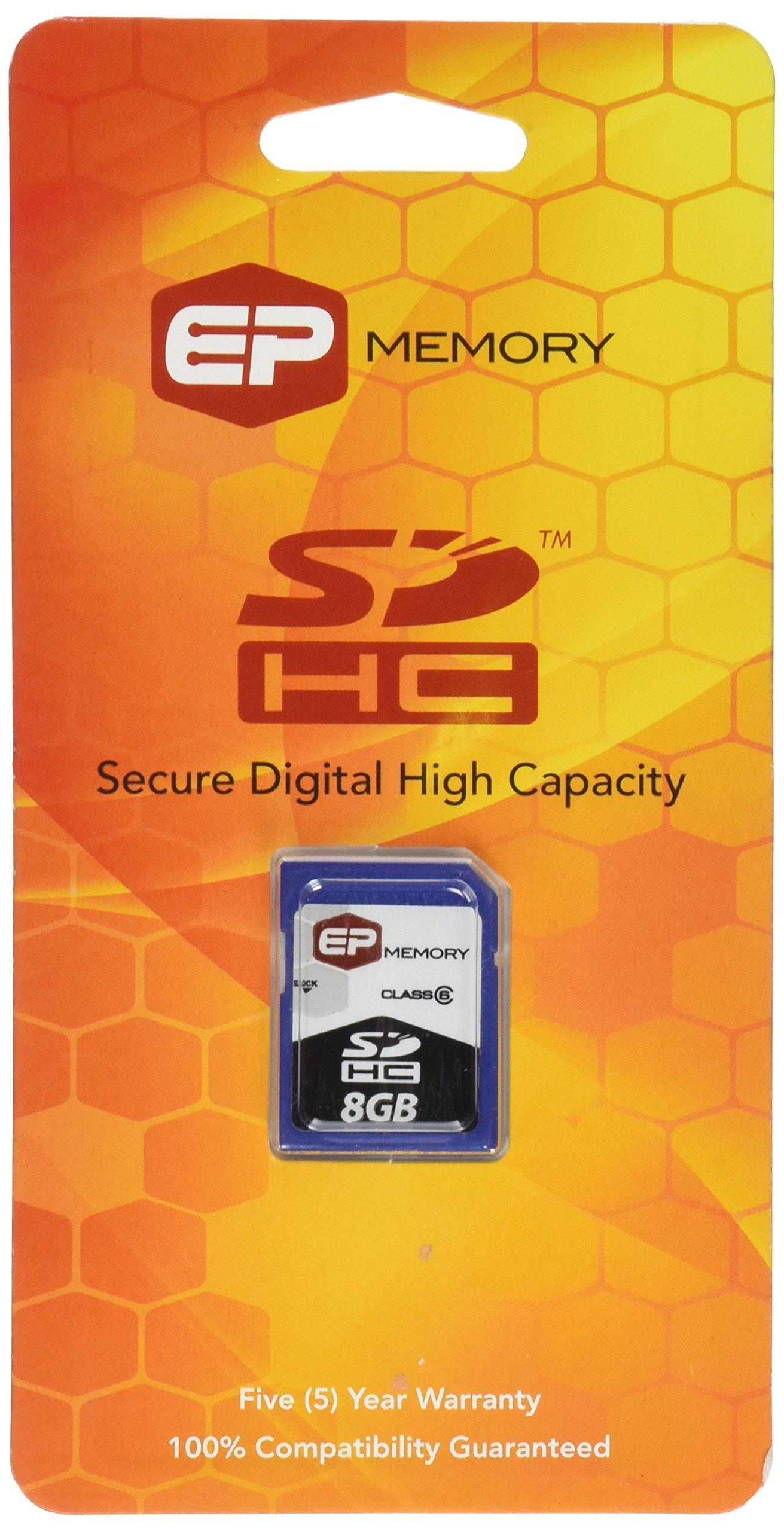 EP Memory 8 GB Flash Memory Card EPSDHC/8GB-6