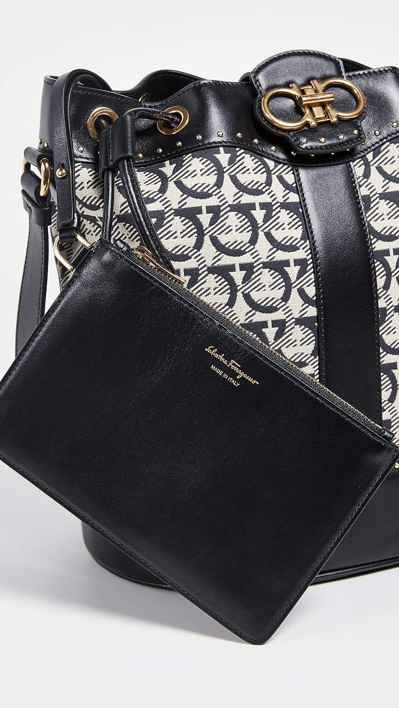 0bb9ece1fcab Amazon.com  Salvatore Ferragamo Women s Gancino Quilting Jacquard Bucket  Bag