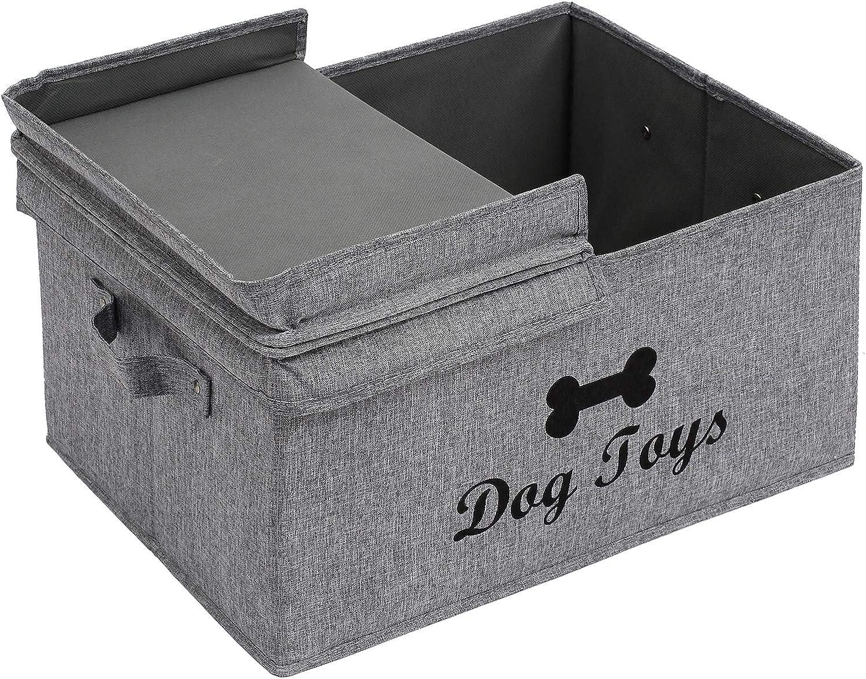 Dog Toy Basket Storage Blankets Perfect for organizing pet Toys Clothing Brabtod Linen-Cotton Blend Dog Toy Basket and Dog Toy Box Rope Toys leashes