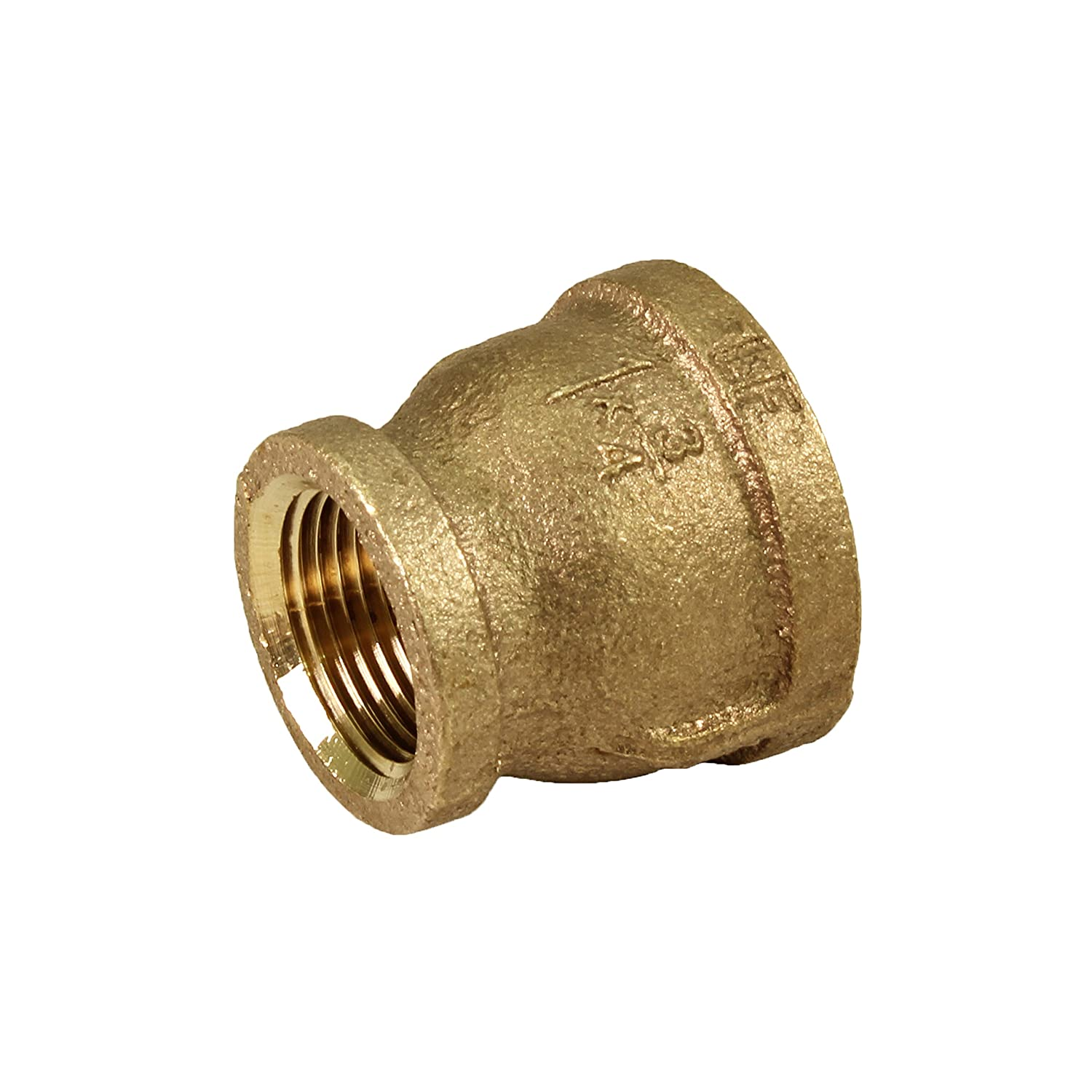 Higher Corrosion Resistance Brass Construction Everflow BRRC1142-NL 1-1//4 x 1 Inch Lead Free Brass Reducing Coupling with Female National Pipe Taper Threaded Ends Economical /& Easy to Install