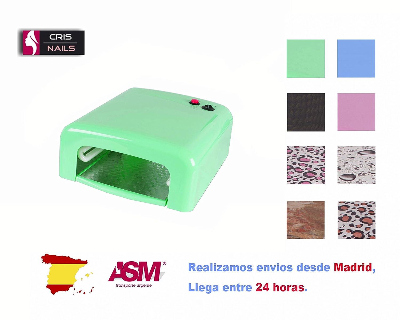 Cris Nails ® Lampara 36W Ultravioleta UV Secador de Uñas para ...